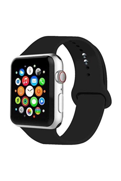 Apple Watch Kordon Uyumlu 2 3 4 5 Seri 42 Mm Ve 44 Mm Silikon Kordon Kayış