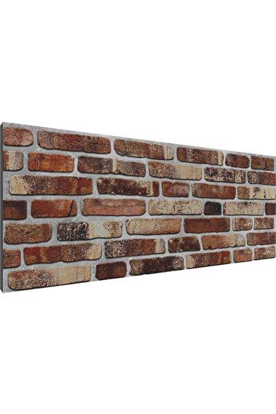 Turuncu 3D Dekor Vtuğla Desenli Strafor Köpük Duvar Kaplama Paneli 209-226