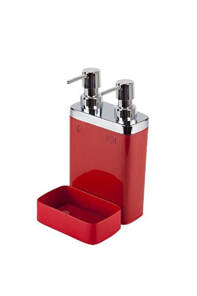 Viva 2'li Sıvı Sabunluk Süngerli Kırmızı / M-e10-04