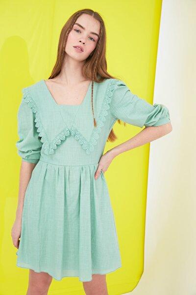 Mint Yaka Detaylı Elbise TWOSS21EL0437