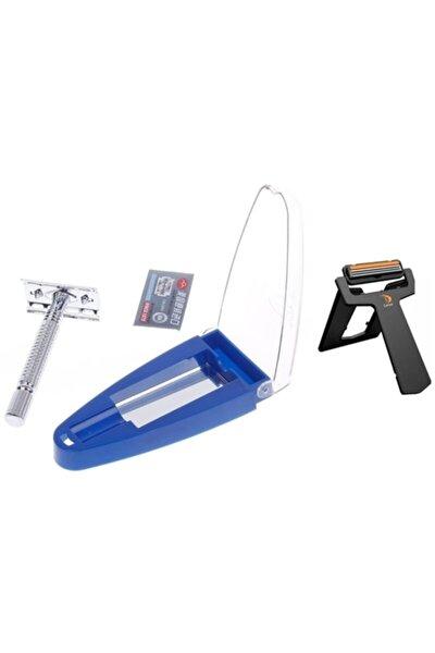 Rımeı Paslanmaz Çelik Tıraş Makinası Seyahat Bıçağı Hediyeli 712068