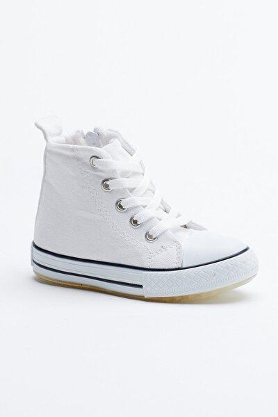 Beyaz Çocuk Spor Ayakkabı Uzun Tb999