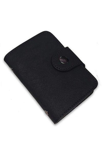 Unisex Siyah Nubuk Kartlık