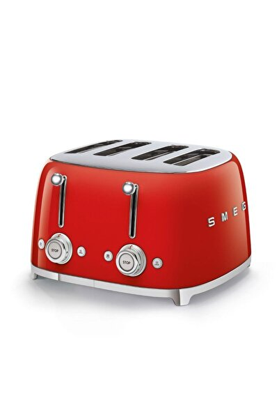 Tsf03rdeu Retro Kırmızı 4x4 Slot Ekmek Kızartma Makinesi