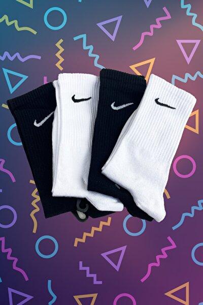 4'lü Siyah&beyaz Atletik Çorap Seti