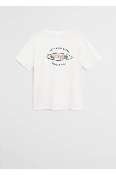 İşleme detaylı desenli tişört