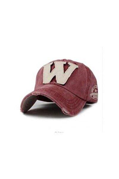 Unisex Kırmızı W Şapka W Snapback Şapka