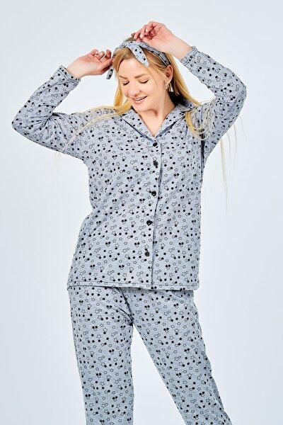 Battal Pijama Takımı Yıldızlı Saç Bandı Hediyeli