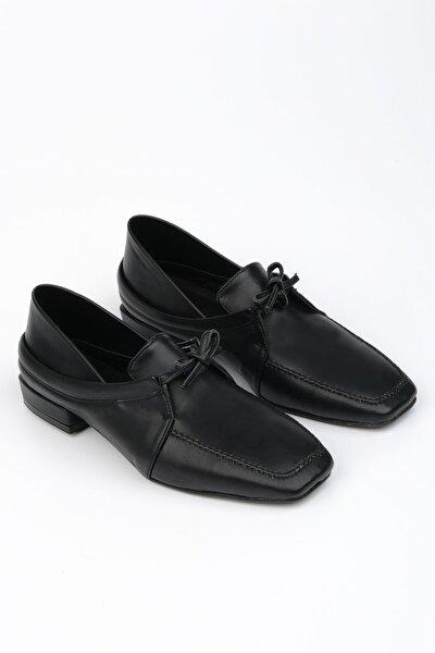 Kadın Siyah Oxford Ayakkabı Borino