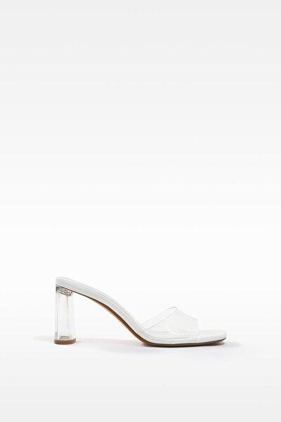 Kadın Transparan Metakrilat Topuklu Vinil Sandalet 11707760
