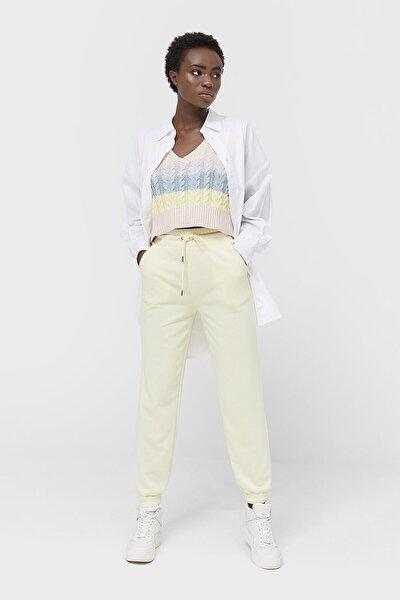 Kadın Sarı Pamuklu Jogger Pantolon 01168500