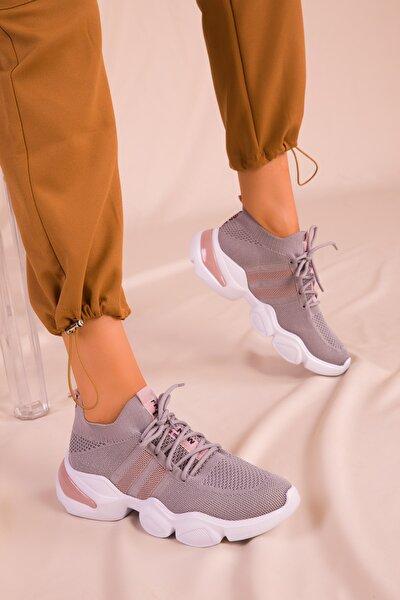 Buz-Pudra Kadın Sneaker 15912