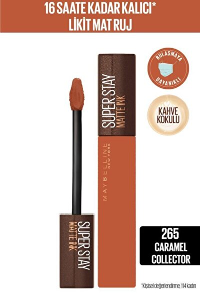 Super Stay Matte Ink Likit Mat Ruj 265 Caramel Collectoroffee Nu 265 Caram