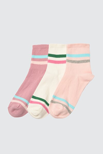 3'lü Çok Renkli Örme Çorap TWOAW20CO0054
