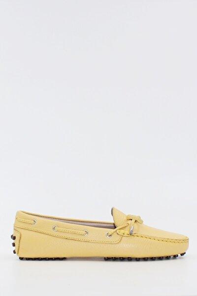 Kadın Loafer Ayakkabı Hakiki Deri Limon Ç. Deri