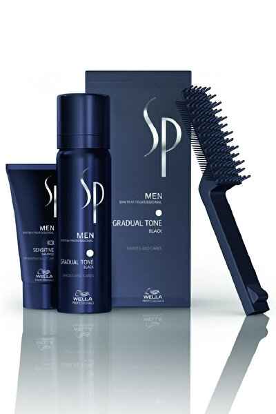 Sp Men Pigment Mousse Gradual Tone Black Siyah 60ml