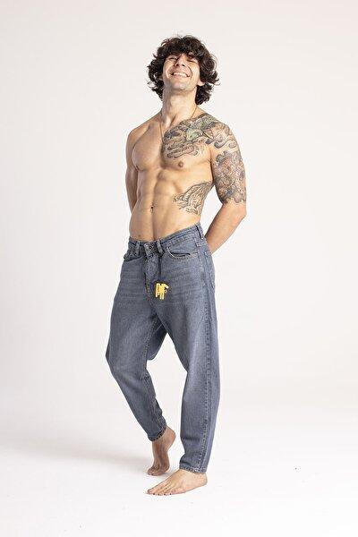 Yıkamalı Mavi Boyfriend Kot Pantolon 1KXE5-44671-49