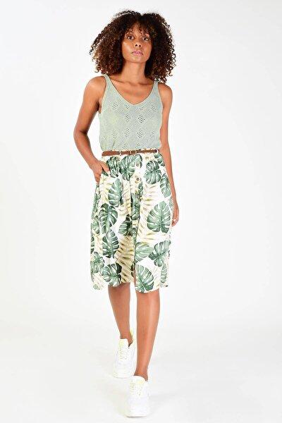 Kadın Mint Delikli Triko Bluz T2048 - P13 ADX-0000019375