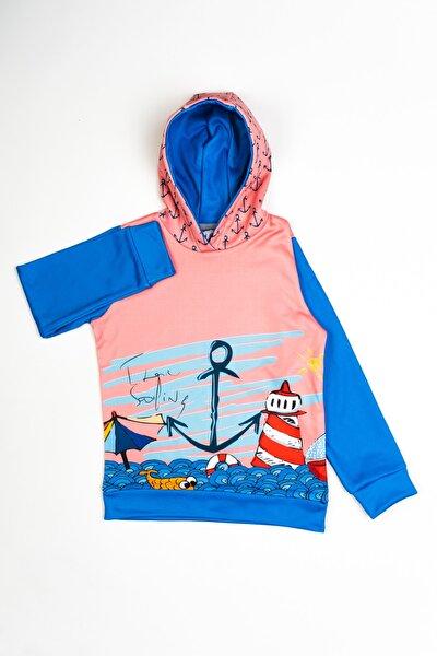 Erkek Çocuk Lisanslı Denizci Baskılı Kapüşonlu Sweatshirt