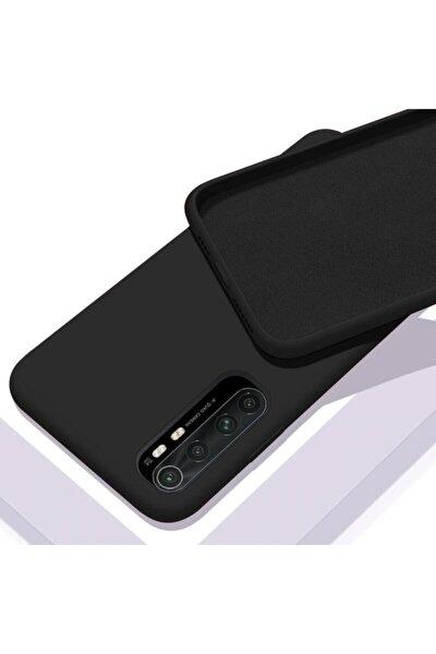 Xiaomi Mi Note 10 Lite Uyumlu Kılıf Içi Kadife Lansman Kapak Siyah