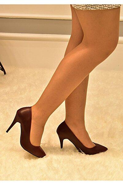 Kadın Bordo Uzun Topuklu Klasik Stiletto
