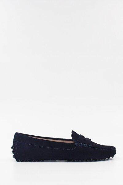 Kadın Loafer Ayakkabı Deri Laci Süet