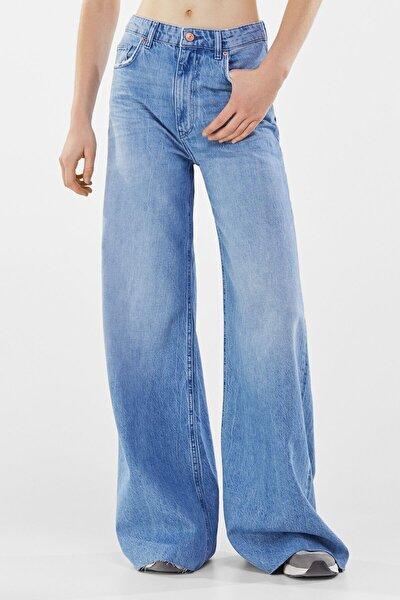 Kadın Açık Mavi Wide Leg Jean