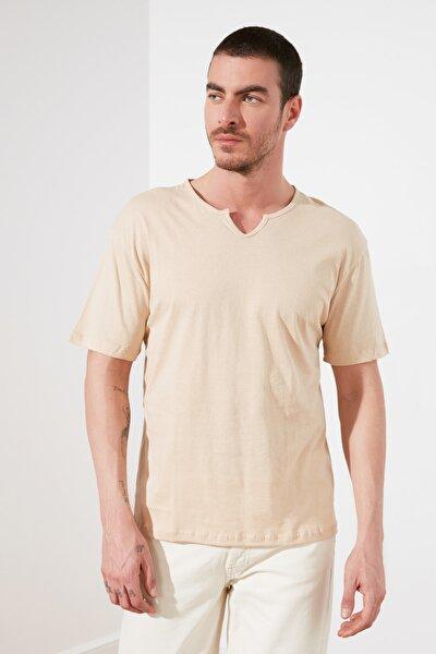 Taş Erkek Oversize Fit  T-Shirt TMNSS20TS1052