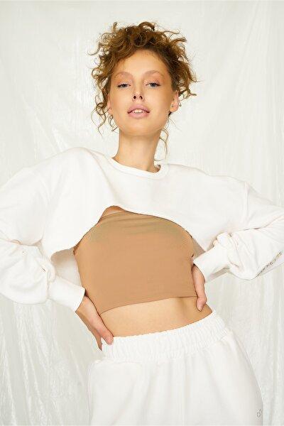 Beyaz Bolero Sweatshirt