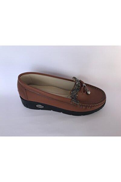 Kadın Taba Aksesuarlı Detaylı Ayakkabı