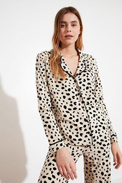 Animal Baskılı Örme Pijama Takımı THMAW21PT0489