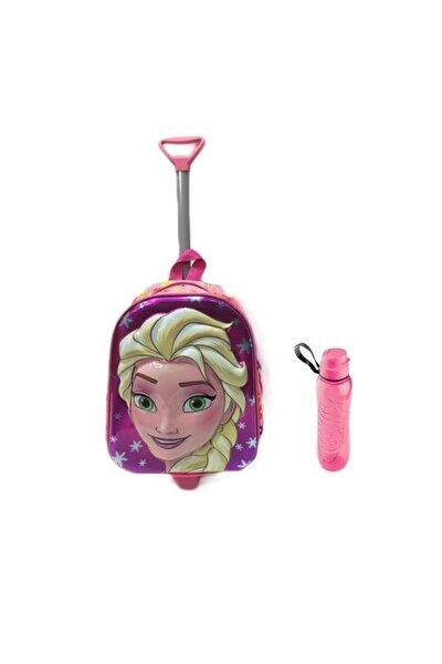 Frozen Elsa Çekçekli Anaokulu Çantası - Elsa Kreş Çantası