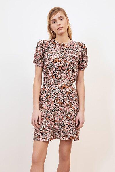 Çok Renkli Çiçek Desenli Elbise TWOSS21EL1114