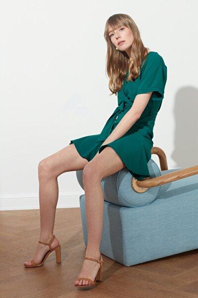 Yeşil Kuşaklı Elbise TWOSS20EL0944