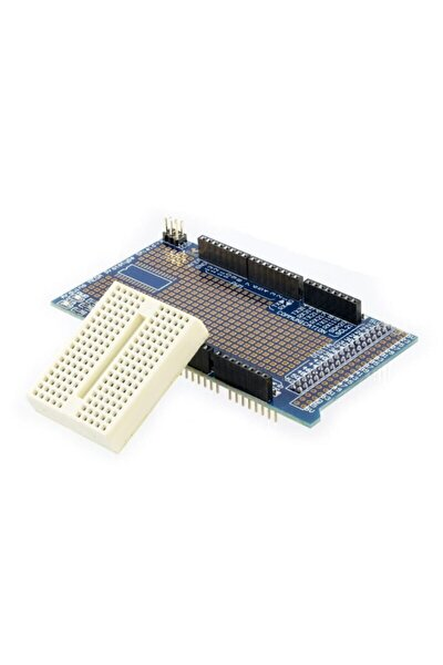 Mini Breadboard'lu Arduino Mega 2560 Proto Shield Kiti