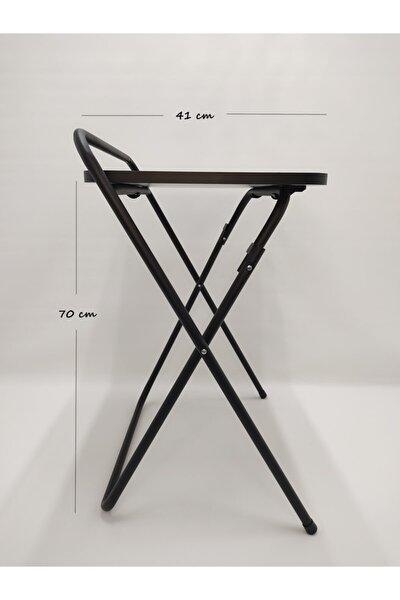 Katlanır Portatif Dizüstü Laptop Sehpası Masası Siyah