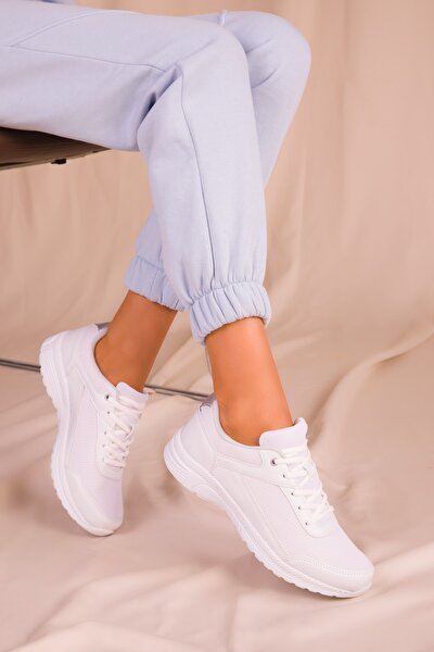 Beyaz Kadın Sneaker 15930
