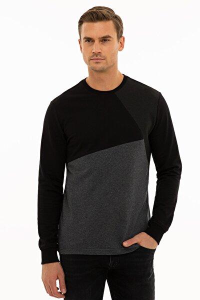 Erkek Siyah Reguar Fit Sweatshirt G021SZ082.000.1235975