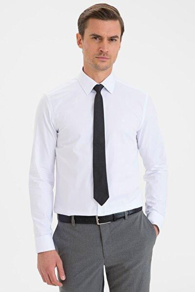 Erkek Beyaz Slim Fit Basic Gömlek G021gl004.000.1214558