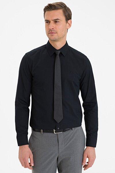 Erkek Siyah Slim Fit Basic Gömlek G021GL004.000.1214558