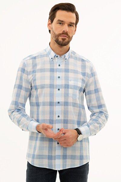 Erkek Açık Mavi Regular Fit Gömlek G021GL004.000.1113553