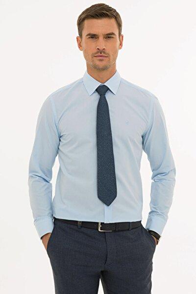 Erkek Açık Mavi Regular Fit Basic Gömlek G021GL004.000.1214477