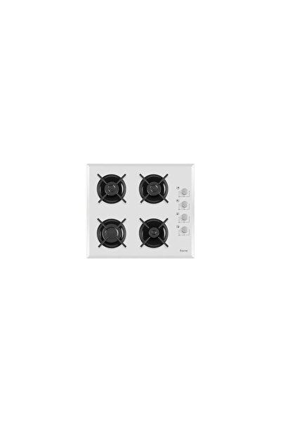 B 1140 Ce 4 Gözü Gazlı Beyaz Cam Ankastre Ocak-doğalgaz