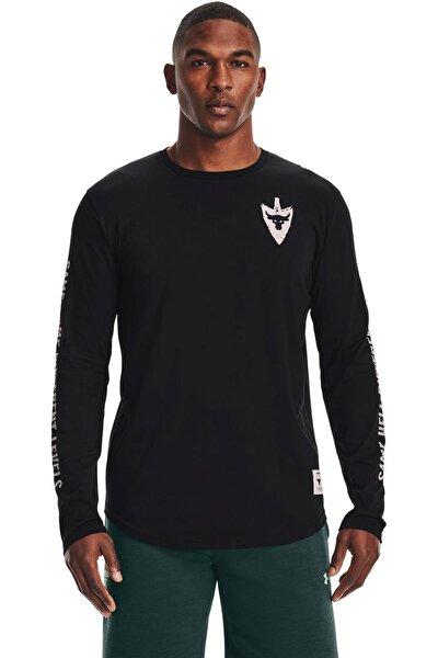 Erkek Spor T-Shirt - UA Project Rock Same Game LS - 1361739-001