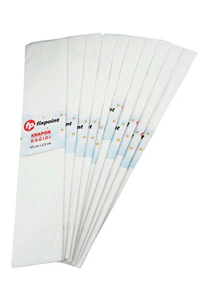 Krapon Kağıdı Beyaz 10'lu 1,5mt X 50cm
