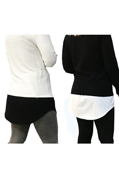 Yarımatik Gömlek Siyah+beyaz 2 Li