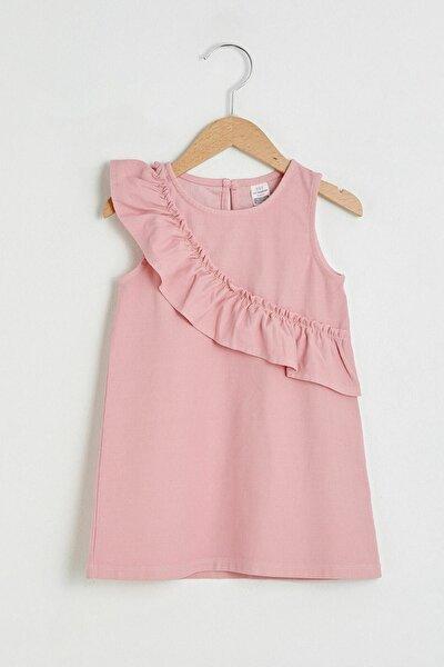 Kız Bebek Pembe Fj0 Elbise