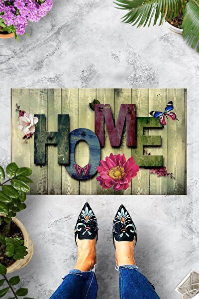 Ahşap Renkli Home Dekoratif Kapı Önü Paspası