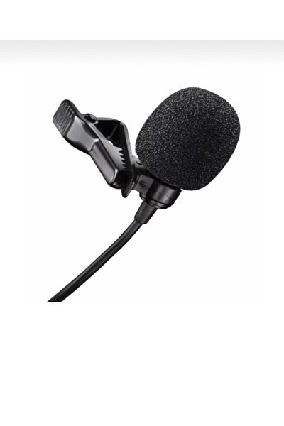 Kablolu 3.5 Mm Hd Ses Kaydı Youtuber Tiktok Yaka Mikrafonu