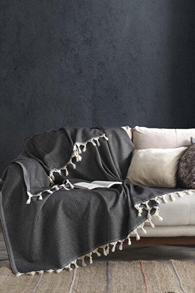 Home Natural Koltuk Örtüsü 170x230 cm Jungle - Siyah